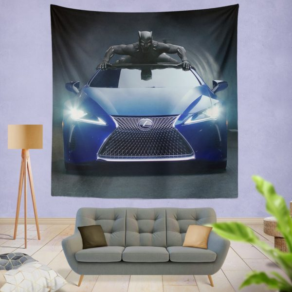 Black Panther Lexus LC Wall Hanging Tapestry