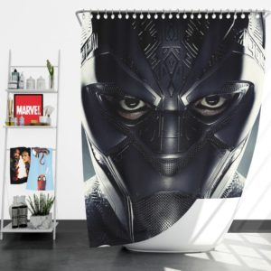 Black Panther Marvel Comics Shower Curtain