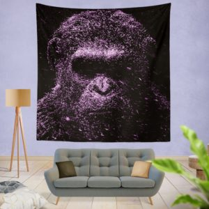 Caesar War For The Planet Of The Apes Wall Hanging Tapestry
