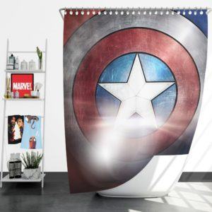 Captain America Shield American Marvel Shower Curtain