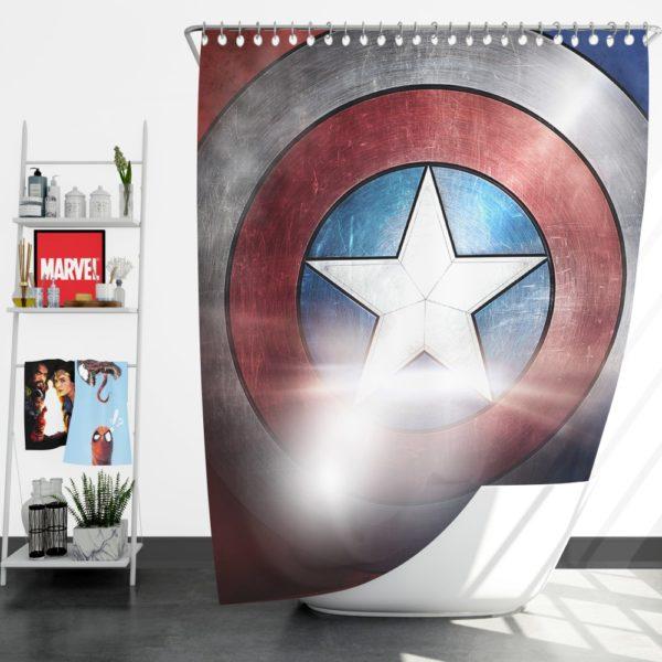 Captain America Shield American Marvel Shower Curtain