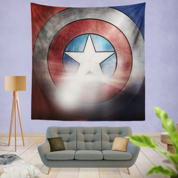 Captain America Shield American Marvel Wall Hanging Tapestry