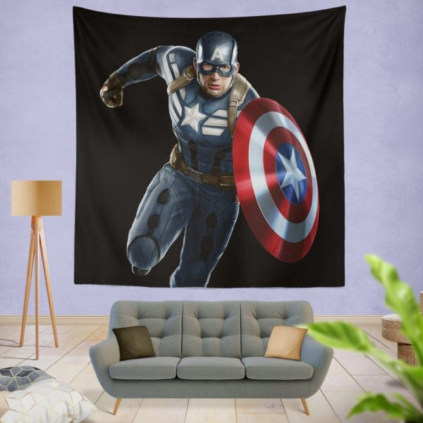 Captain America Superheroes Marvel Comics Wall Hanging Tapestry