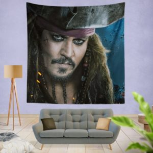 Captain Jack Sparrow Johnny Depp Wall Hanging Tapestry