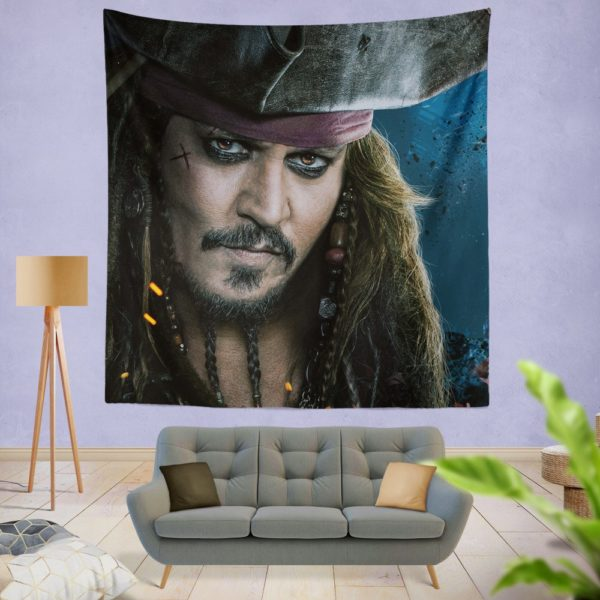 Captain Jack Sparrow Johnny Depp Wall Hanging Tapestry