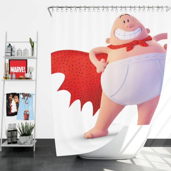 Captain Underpants Dream works Movie Shower Curtain