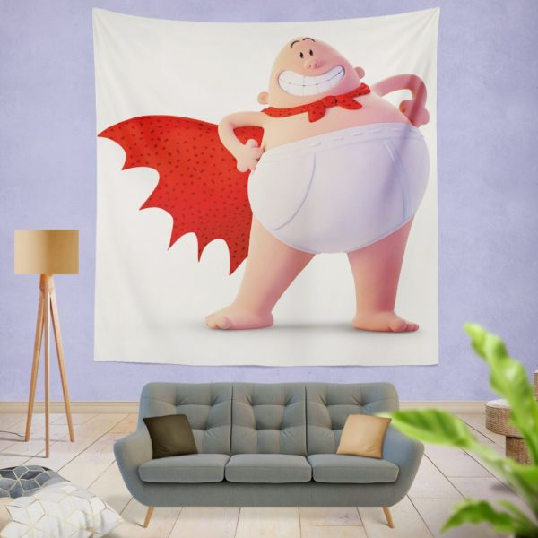 Captain Underpants Dream works Movie Wall Hanging Tapestry