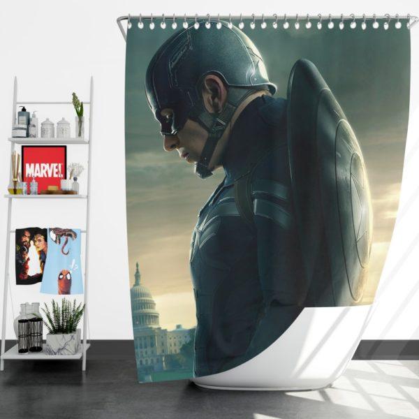 Chris Evans Captain America Shower Curtain