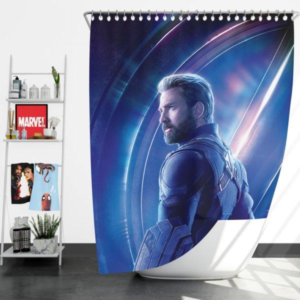 Chris Evans Steve Rogers Captain America Shower Curtain