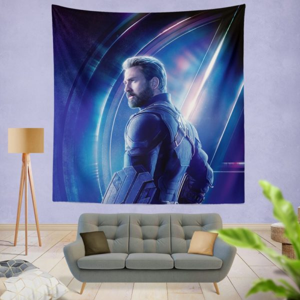 Chris Evans Steve Rogers Captain America Wall Hanging Tapestry