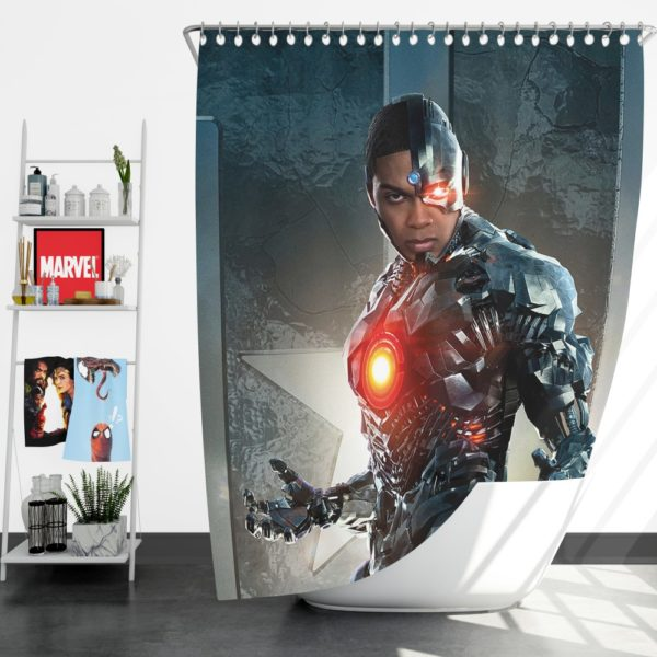 Cyborg Justice League Shower Curtain