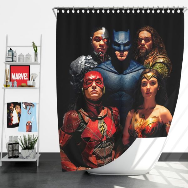 DC Comics Justice League Movie Shower Curtain