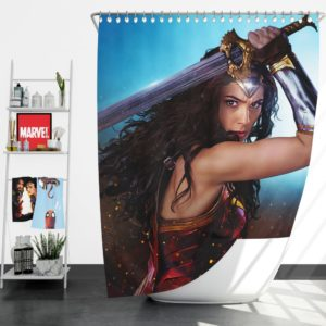 DC Comics Super Heroine Wonder Woman Shower Curtain