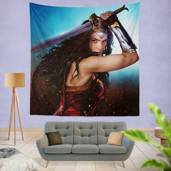 DC Comics Super Heroine Wonder Woman Wall Hanging Tapestry