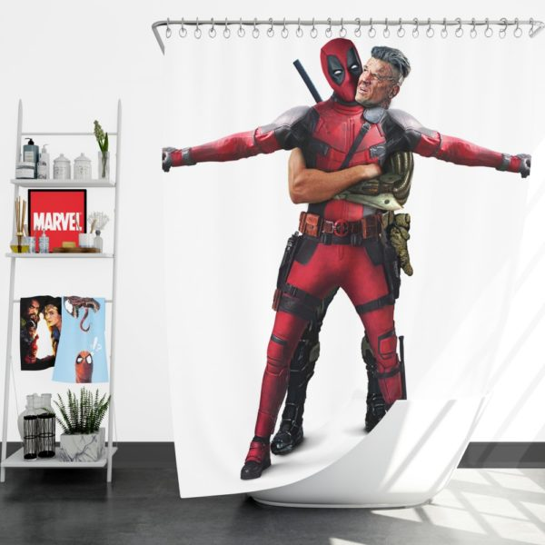 Deadpool 2 Josh Brolin Cable Shower Curtain