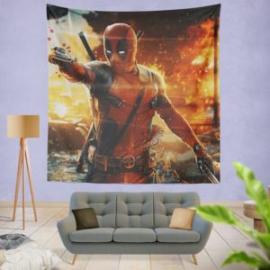 Deadpool Artwork Super Hero Wall Hanging Tapestry