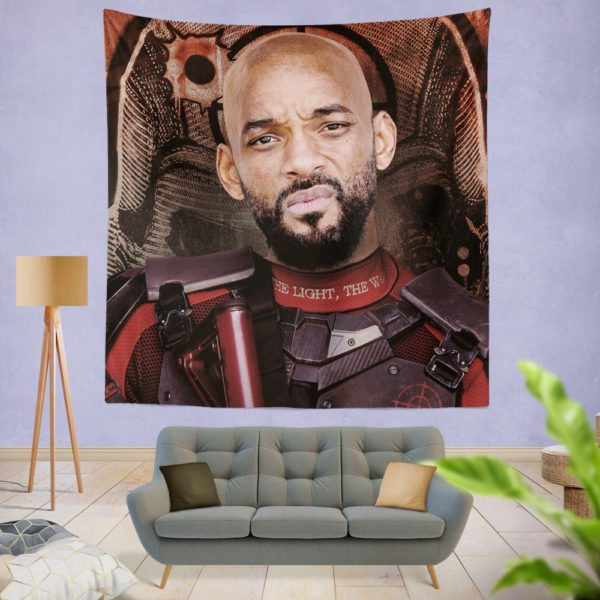 Deadshot Suicide Squad Movie Will Smith Wall Hanging Tapestry