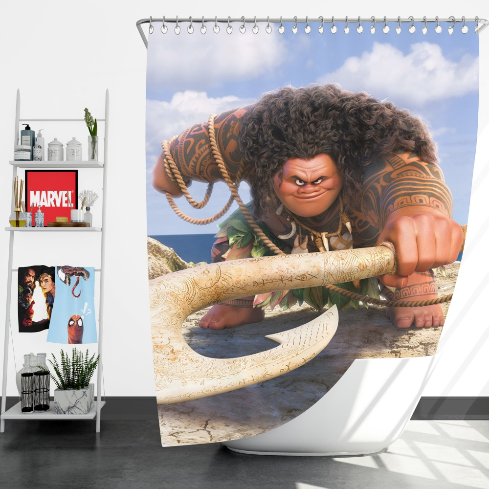 Demigod Maui Moana Disney Movie Shower Curtain Ebeddingsets