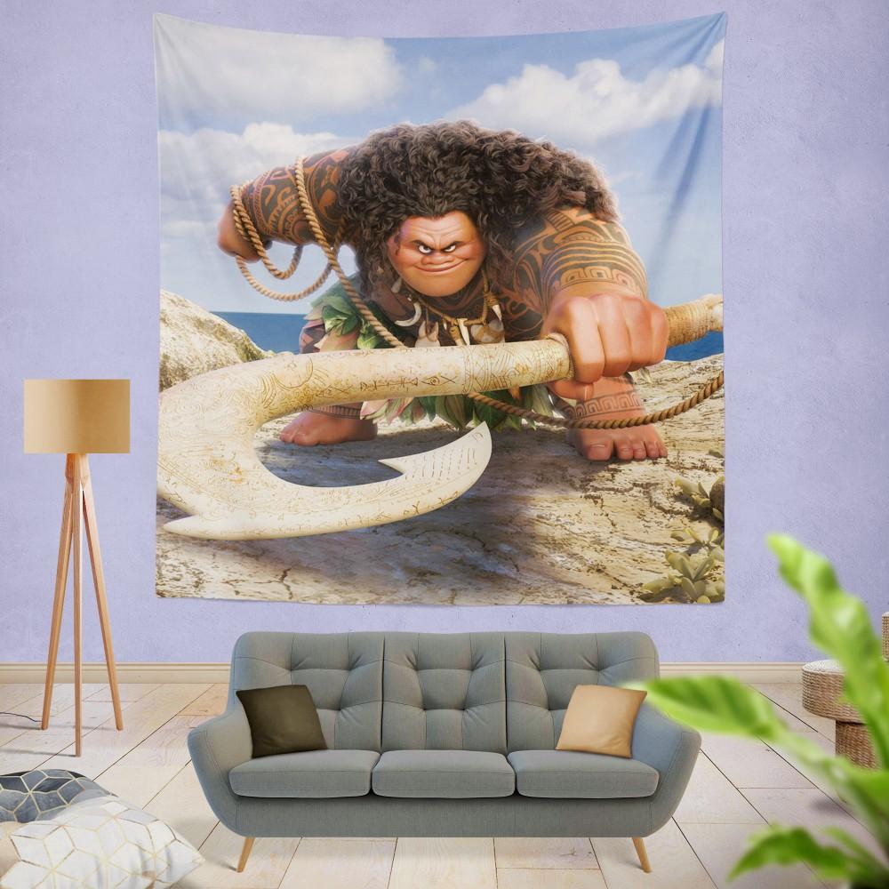 Demigod Maui Moana Disney Movie Wall Hanging Tapestry