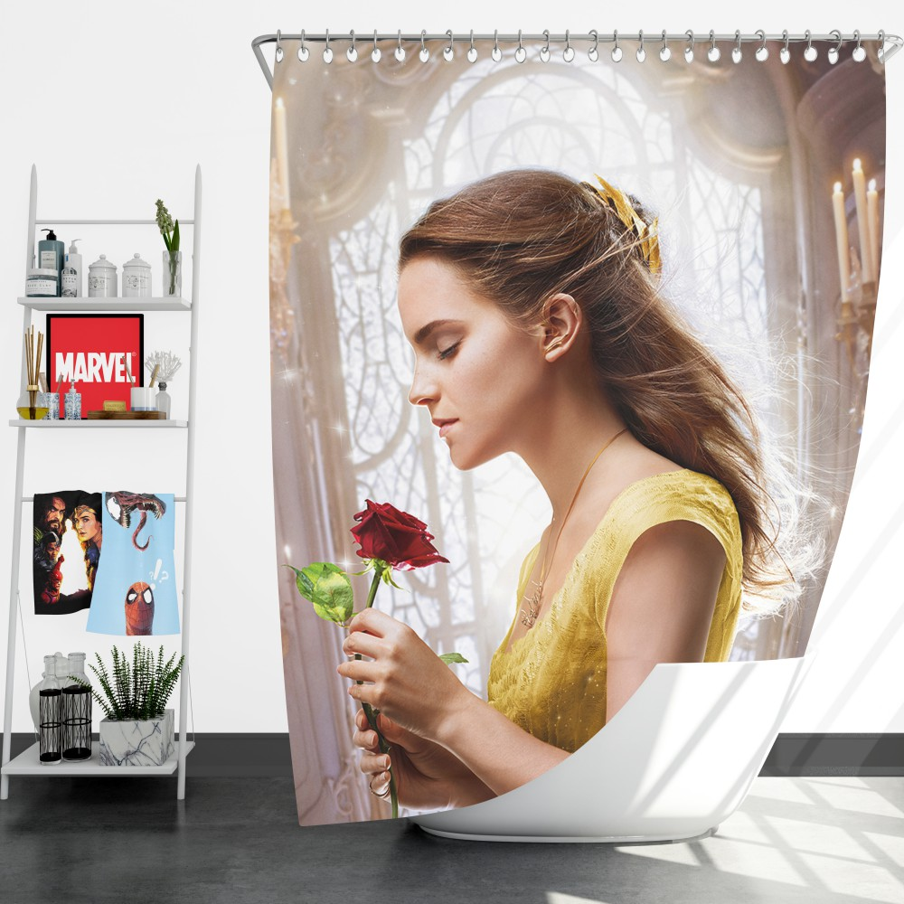Emma Watson Beauty And The Beast Belle Shower Curtain