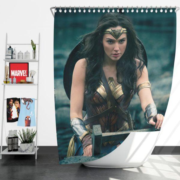 Gal Gadot Wonder Woman Shower Curtain
