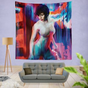 Ghost in the Shell Scarlett Johansson Wall Hanging Tapestry