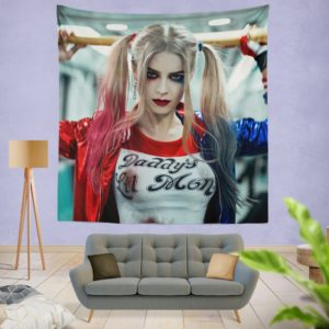 Harley Quinn Cosplay Suicide Squad Wall Hanging Tapestry