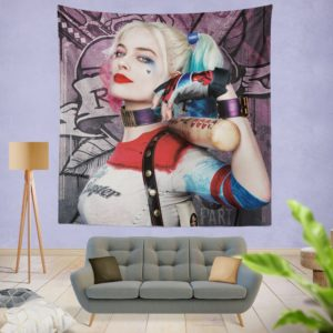 Harley Quinn Suicide Squad Margot Robbie Wall Hanging Tapestry