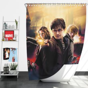 Harry Potter And The Deathly Hallows Shower Curtain