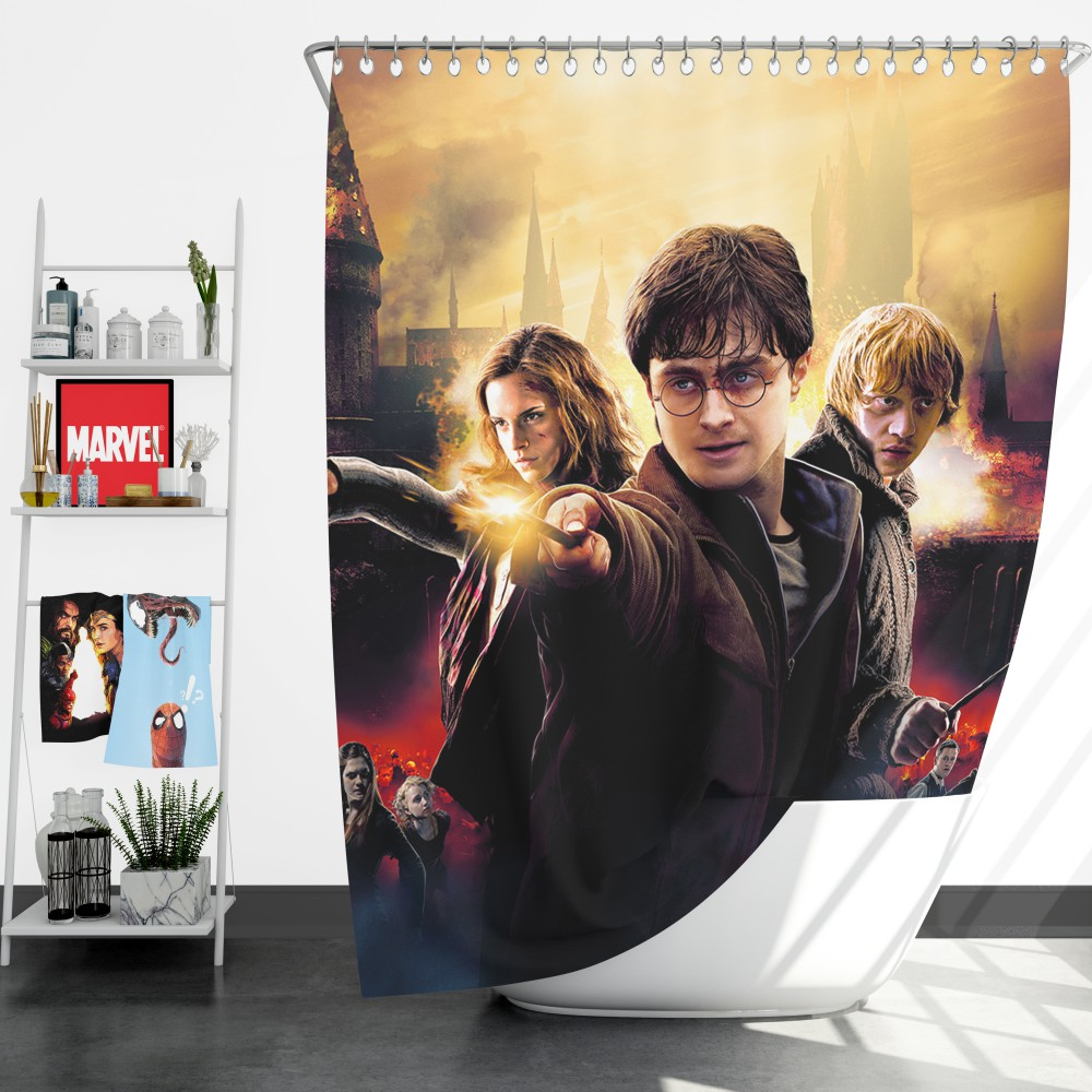 Harry Potter And The Deathly Hallows Shower Curtain Ebeddingsets
