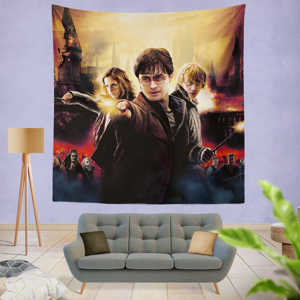 Harry Potter And The Deathly Hallows Wall Hanging Tapestry