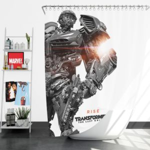 Hot Rod Transformers The Last Knight Shower Curtain