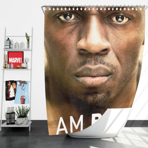 I am Bolt Movie Usain Bolt Shower Curtain