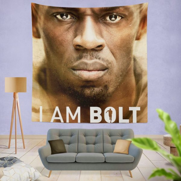 I am Bolt Movie Usain Bolt Wall Hanging Tapestry