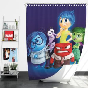 Inside Out Pixar Animation Movie Shower Curtain
