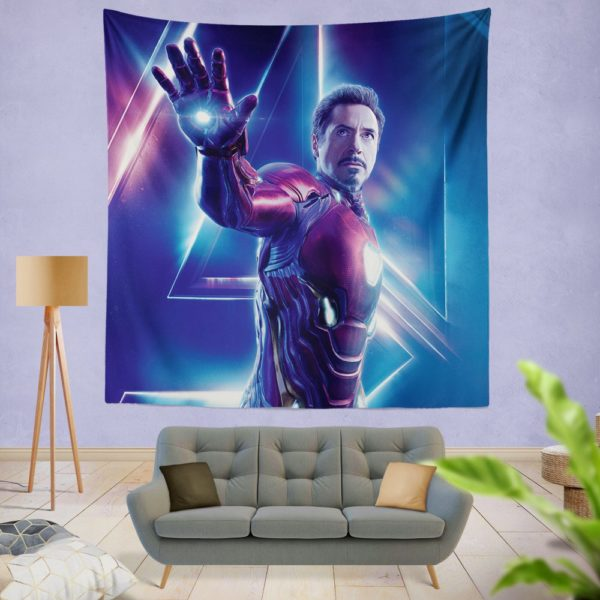 Iron Man Robert Downey Jr Tony Stark Wall Hanging Tapestry