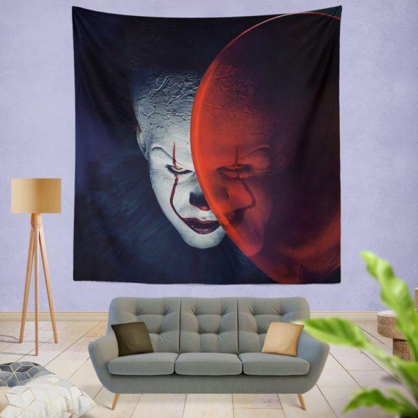 It Movie Clown Bill Skarsgard Wall Hanging Tapestry