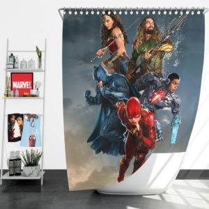 Justice League Movie Teen Bedroom Shower Curtain