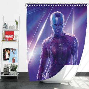Karen Gillan Nebula Avengers Shower Curtain