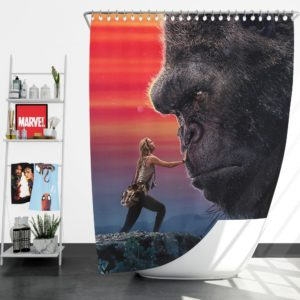 Kong Skull Island Brie Larson Shower Curtain