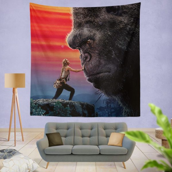 Kong Skull Island Brie Larson Wall Hanging Tapestry