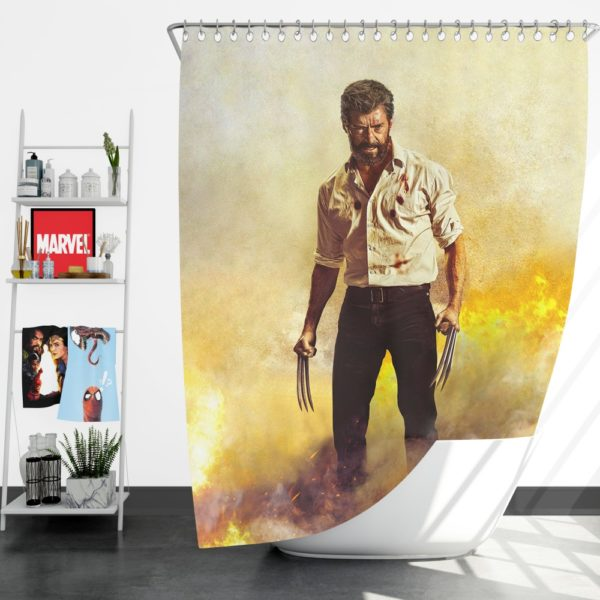 Logan Hugh Jackman Shower Curtain