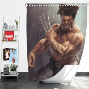 Logan Wolwerine Shower Curtain