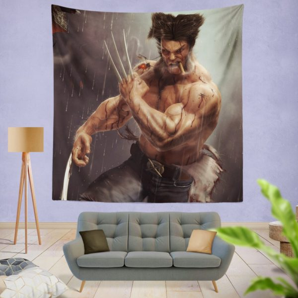Logan Wolwerine Wall Hanging Tapestry