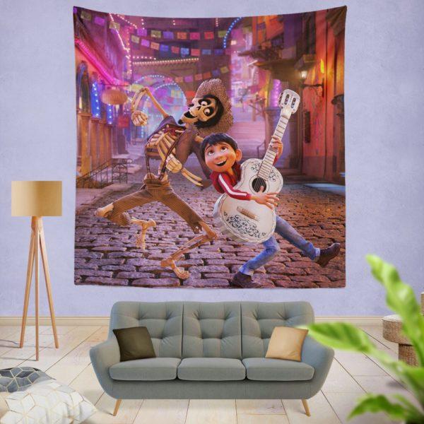 Miguel Rivera Hector Coco Disney Pixar Wall Hanging Tapestry