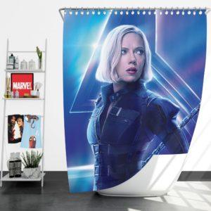 Natasha Romanoff Black Widow Marvel Avenger Shower Curtain