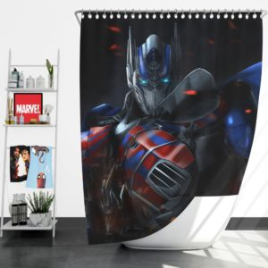Optimus Prime Artwork Transformers Movie Shower Curtain
