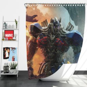 Optimus Prime Transformers the Last Knight Shower Curtain