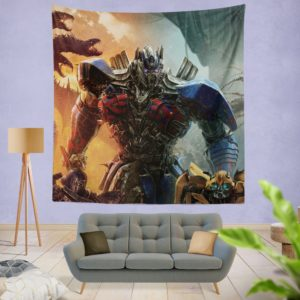 Optimus Prime Transformers the Last Knight Wall Hanging Tapestry