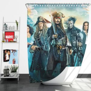 Pirates of the Caribbean Dead Men Shower Curtain
